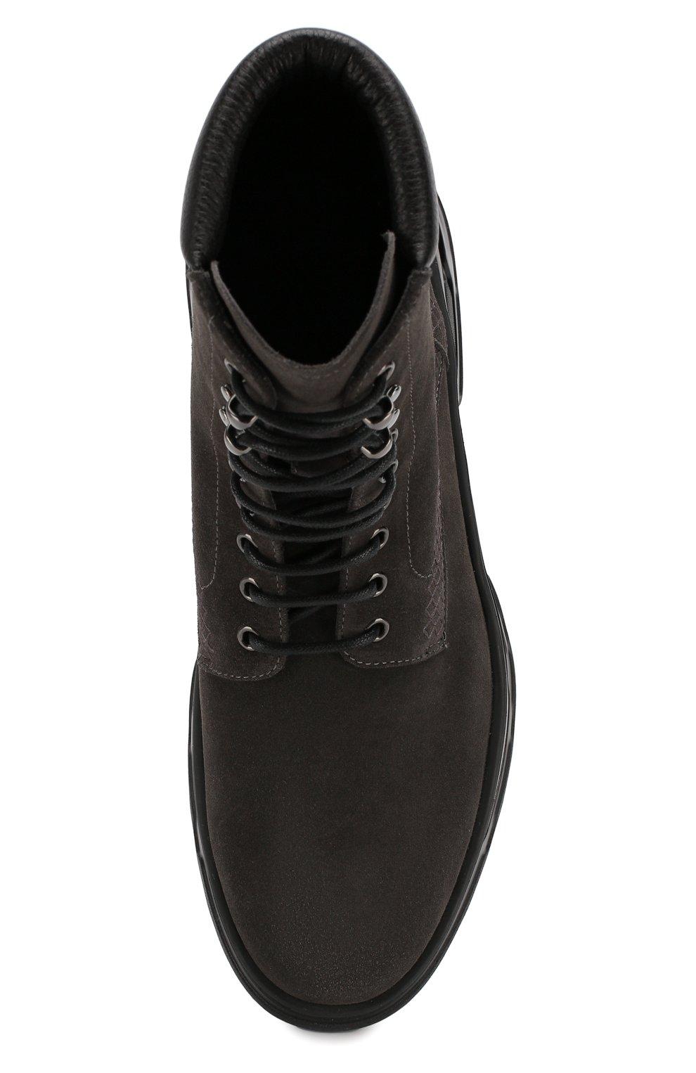 Мужские замшевые ботинки GIORGIO ARMANI темно-серого цвета, арт. X2M312/XM181   Фото 5
