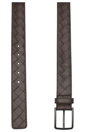 Мужской кожаный ремень BOTTEGA VENETA темно-коричневого цвета, арт. 609182/VCPQ3 | Фото 2
