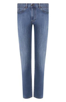 Мужские джинсы CANALI голубого цвета, арт. 91700/PD00250 | Фото 1