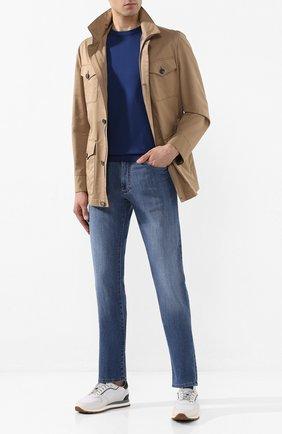 Мужские джинсы CANALI голубого цвета, арт. 91700/PD00250 | Фото 2