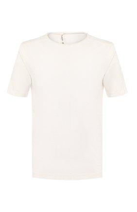 Мужская хлопковая футболка TRANSIT белого цвета, арт. CFUTRK1360 | Фото 1
