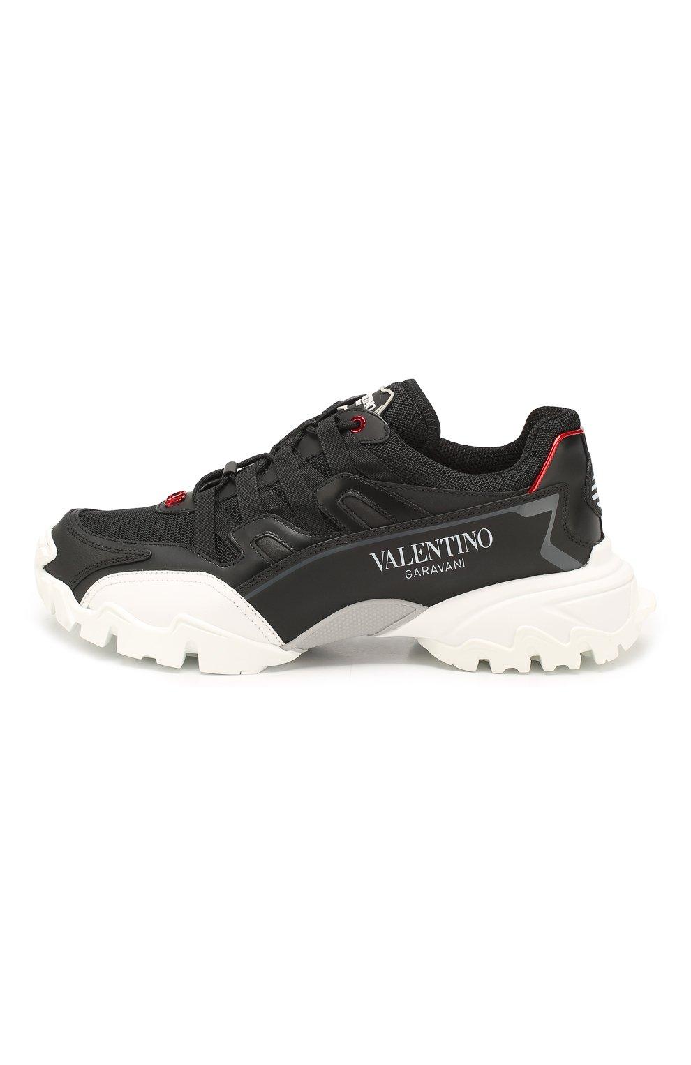 Мужские комбинированные кроссовки valentino garavani climbers VALENTINO черного цвета, арт. TY2S0C20/LJP | Фото 3