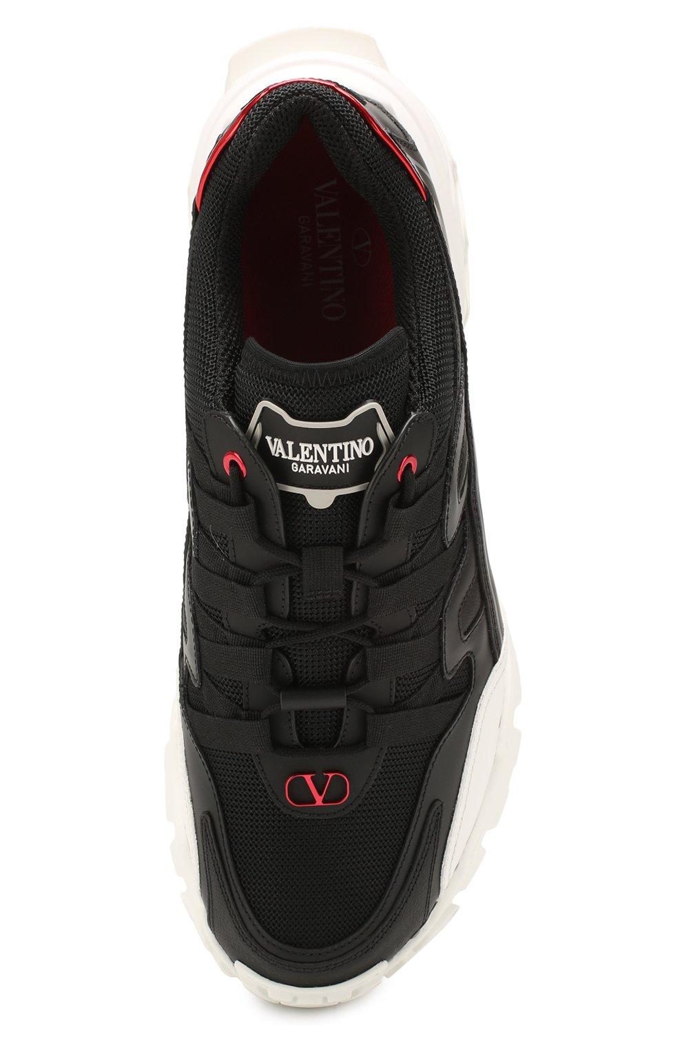 Мужские комбинированные кроссовки valentino garavani climbers VALENTINO черного цвета, арт. TY2S0C20/LJP | Фото 5