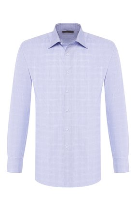 Мужская хлопковая сорочка CANALI голубого цвета, арт. 705/GD01882/S | Фото 1