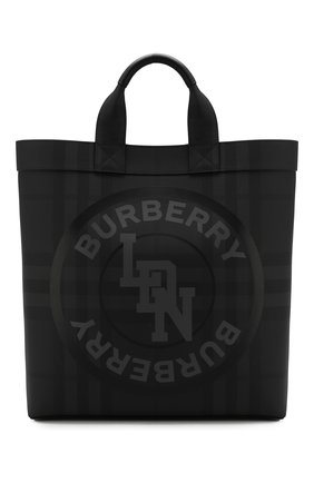 Мужская сумка-шопер BURBERRY темно-серого цвета, арт. 8022519 | Фото 1