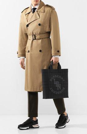 Мужская сумка-шопер BURBERRY темно-серого цвета, арт. 8022519 | Фото 2
