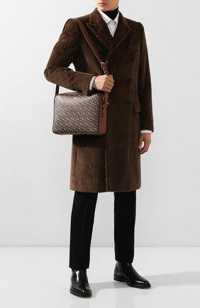 Мужская сумка BURBERRY коричневого цвета, арт. 8022188 | Фото 2