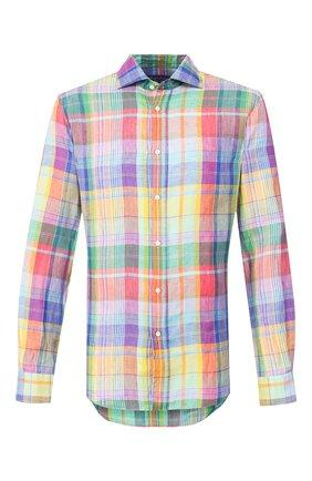 Мужская льняная рубашка RALPH LAUREN разноцветного цвета, арт. 790780934 | Фото 1