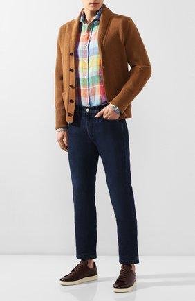 Мужская льняная рубашка RALPH LAUREN разноцветного цвета, арт. 790780934 | Фото 2