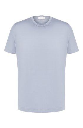 Мужская хлопковая футболка CORTIGIANI голубого цвета, арт. 816600/4000 | Фото 1