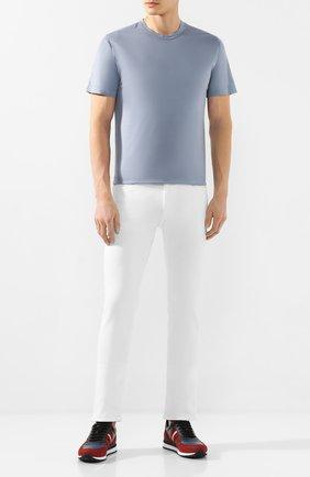 Мужская хлопковая футболка CORTIGIANI голубого цвета, арт. 816600/4000 | Фото 2