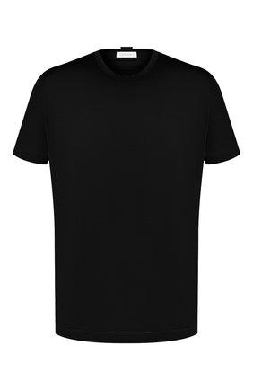 Мужская хлопковая футболка CORTIGIANI черного цвета, арт. 816600/4000 | Фото 1