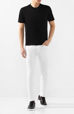 Мужская хлопковая футболка CORTIGIANI черного цвета, арт. 816600/4000 | Фото 2