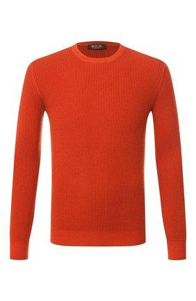 Мужской кашемировый джемпер LORO PIANA оранжевого цвета, арт. FAI4917 | Фото 1