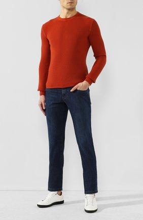 Мужской кашемировый джемпер LORO PIANA оранжевого цвета, арт. FAI4917 | Фото 2