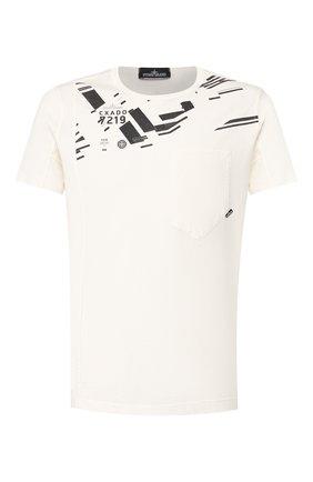 Мужская хлопковая футболка STONE ISLAND SHADOW PROJECT белого цвета, арт. 721920610 | Фото 1