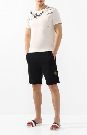 Мужская хлопковая футболка STONE ISLAND SHADOW PROJECT белого цвета, арт. 721920610 | Фото 2