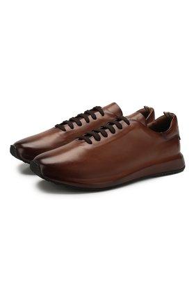 Мужские кожаные кроссовки OFFICINE CREATIVE коричневого цвета, арт. RACE/017/AER0 BUTTER0 | Фото 1