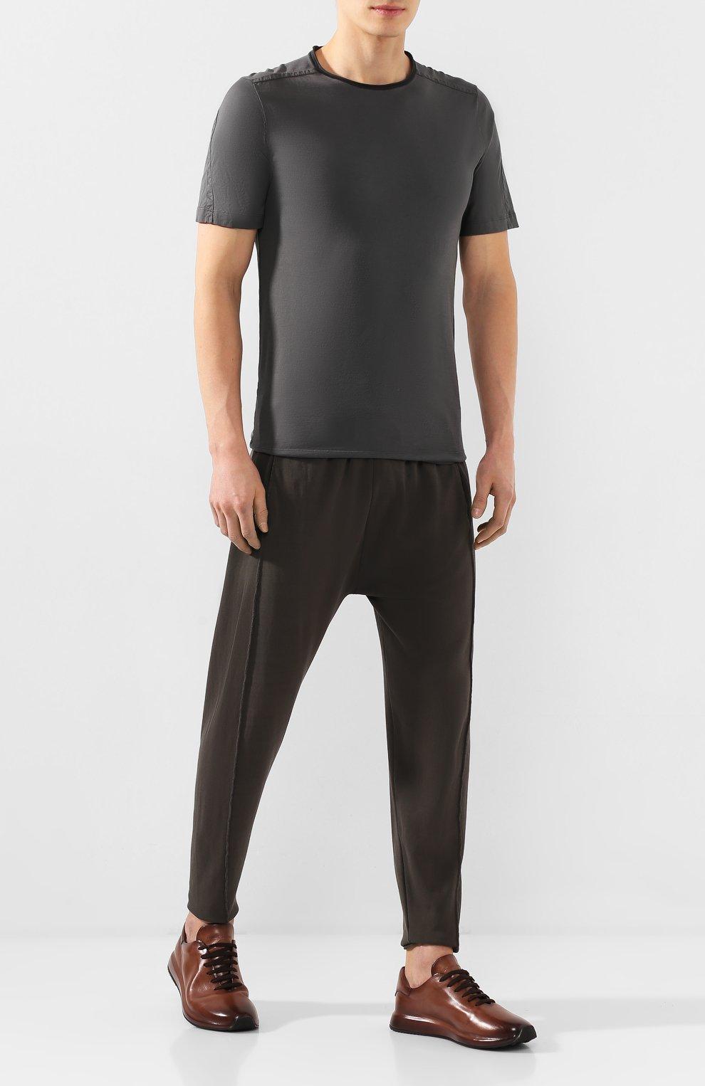 Мужские кожаные кроссовки OFFICINE CREATIVE коричневого цвета, арт. RACE/017/AER0 BUTTER0   Фото 2 (Материал внутренний: Натуральная кожа; Стили: Классический; Подошва: Массивная; Статус проверки: Проверена категория)