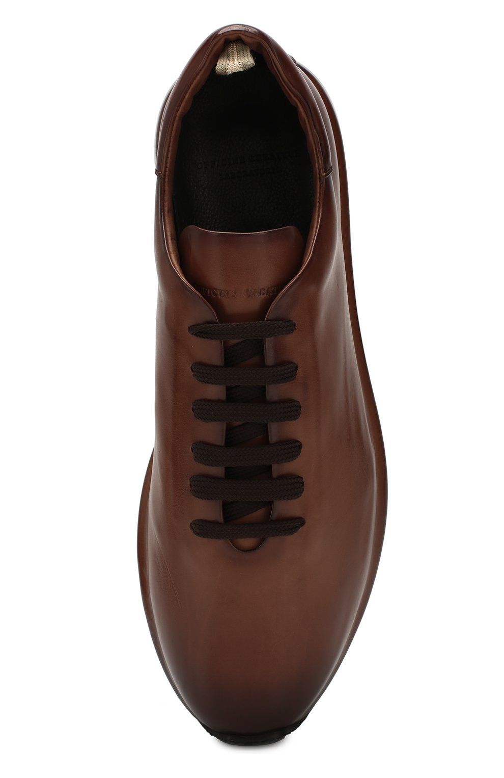 Мужские кожаные кроссовки OFFICINE CREATIVE коричневого цвета, арт. RACE/017/AER0 BUTTER0   Фото 5 (Материал внутренний: Натуральная кожа; Стили: Классический; Подошва: Массивная; Статус проверки: Проверена категория)