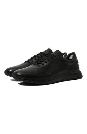 Мужские кожаные кроссовки OFFICINE CREATIVE черного цвета, арт. RACE/017/BUTTER0 | Фото 1