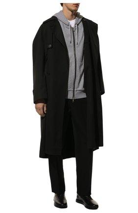 Мужские кожаные кроссовки OFFICINE CREATIVE черного цвета, арт. RACE/017/BUTTER0 | Фото 2