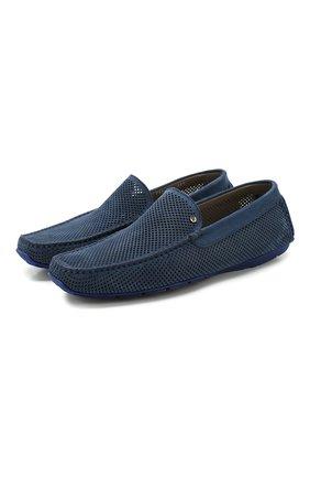 Мужские замшевые мокасины ALDO BRUE синего цвета, арт. AB0092G-NS | Фото 1