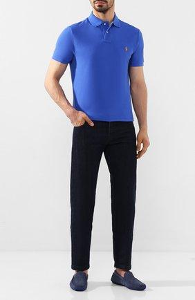 Мужские замшевые мокасины ALDO BRUE синего цвета, арт. AB0092G-NS | Фото 2