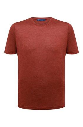 Мужская шелковая футболка ANDREA CAMPAGNA красного цвета, арт. 60133/78301 | Фото 1