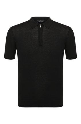 Мужское шелковое поло GRAN SASSO черного цвета, арт. 43166/23503   Фото 1