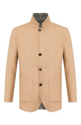 Мужской двусторонний кашемировый пиджак BRUNELLO CUCINELLI бежевого цвета, арт. MN4719920 | Фото 1