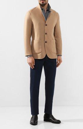 Мужской двусторонний кашемировый пиджак BRUNELLO CUCINELLI бежевого цвета, арт. MN4719920 | Фото 2