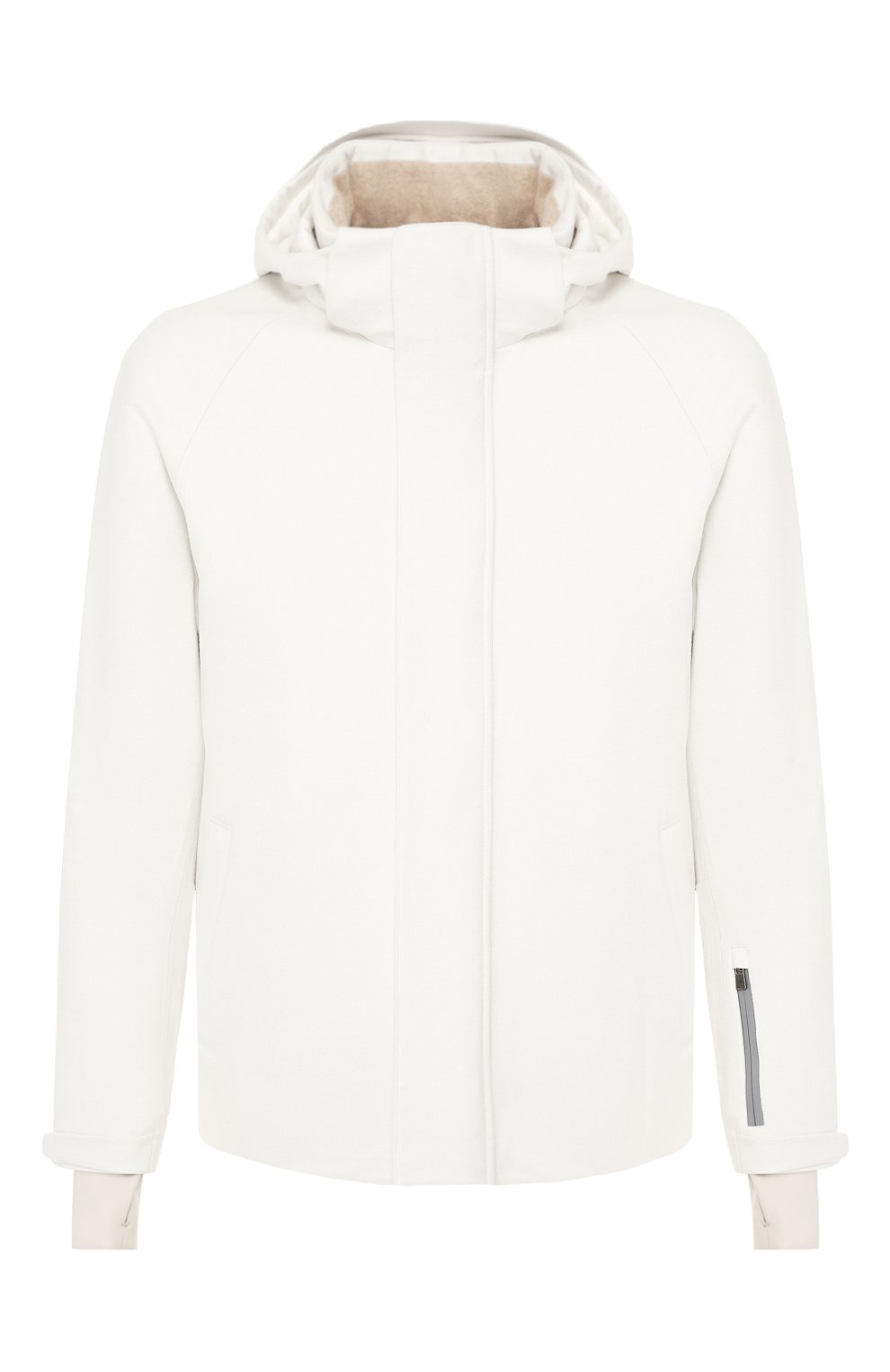 Мужская куртка из кашемира и шелка LORO PIANA белого цвета, арт. FAI8953 | Фото 1