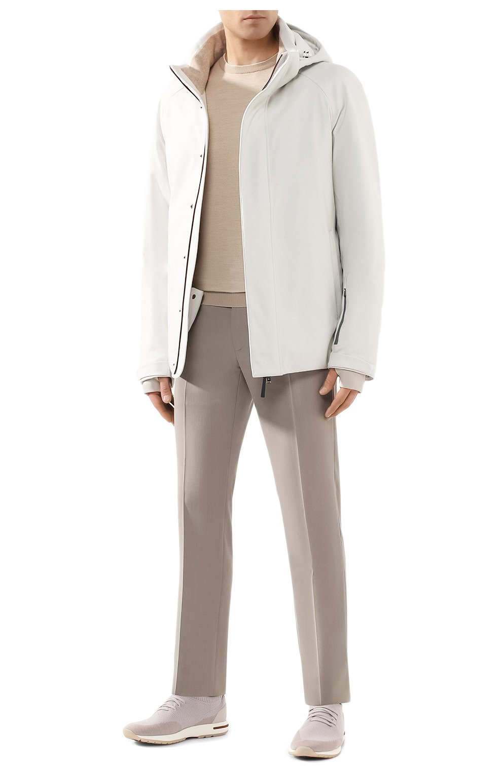 Мужская куртка из кашемира и шелка LORO PIANA белого цвета, арт. FAI8953 | Фото 2