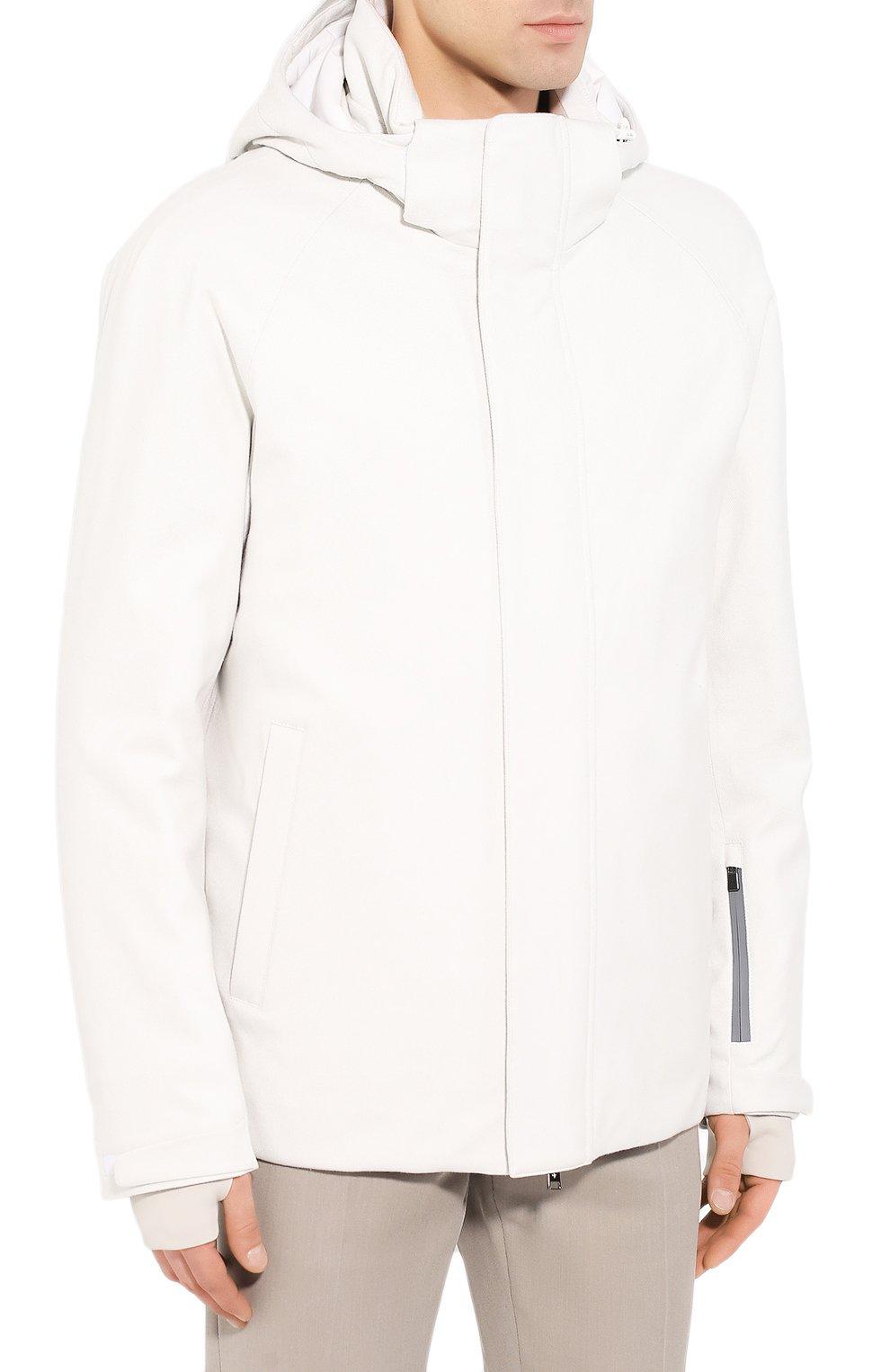 Мужская куртка из кашемира и шелка LORO PIANA белого цвета, арт. FAI8953 | Фото 3