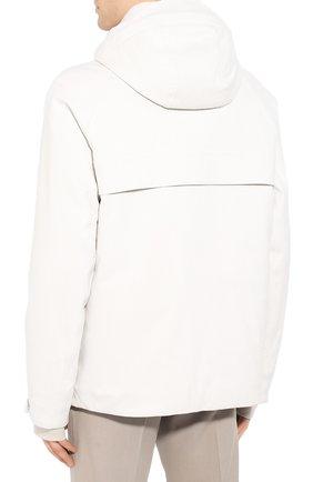 Мужская куртка из кашемира и шелка LORO PIANA белого цвета, арт. FAI8953 | Фото 4