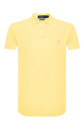Мужское хлопковое поло POLO RALPH LAUREN желтого цвета, арт. 710795080   Фото 1