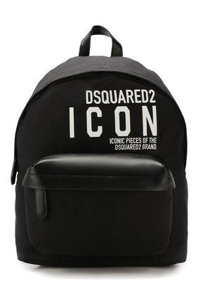 Мужской текстильный рюкзак DSQUARED2 черного цвета, арт. BPM0019 11702649 | Фото 1
