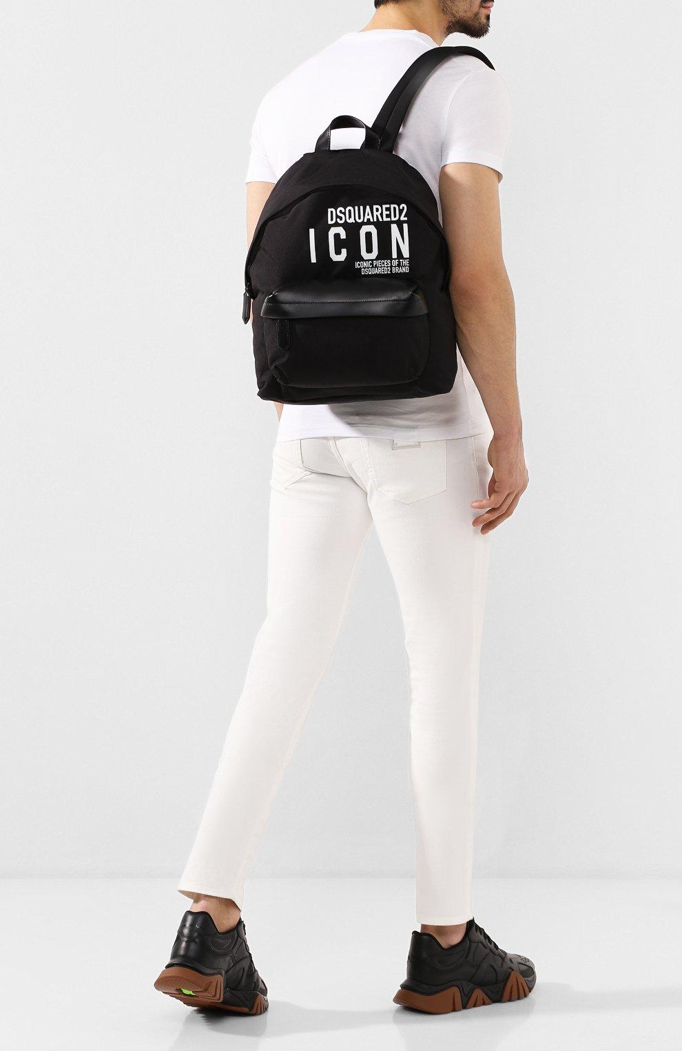 Мужской текстильный рюкзак DSQUARED2 черного цвета, арт. BPM0019 11702649 | Фото 2