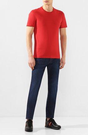Мужские кожаные кроссовки BALLY черного цвета, арт. ASTEL-F0/510 | Фото 2 (Материал внутренний: Натуральная кожа; Подошва: Массивная; Статус проверки: Проверена категория; Стили: Классический)