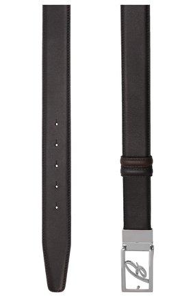 Мужской кожаный ремень BRIONI черного цвета, арт. 0BAP0L/P9721 | Фото 3