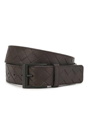 Мужской кожаный ремень BOTTEGA VENETA темно-коричневого цвета, арт. 609183/VCPQ3 | Фото 1
