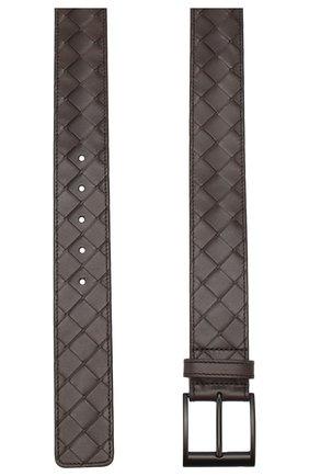 Мужской кожаный ремень BOTTEGA VENETA темно-коричневого цвета, арт. 609183/VCPQ3 | Фото 2