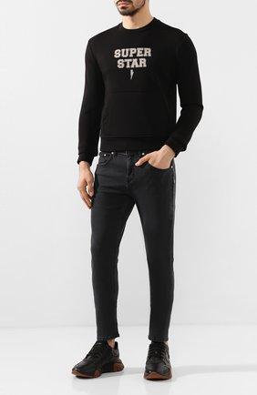 Мужской свитшот NEIL BARRETT черного цвета, арт. PBJS601S/N509S | Фото 2