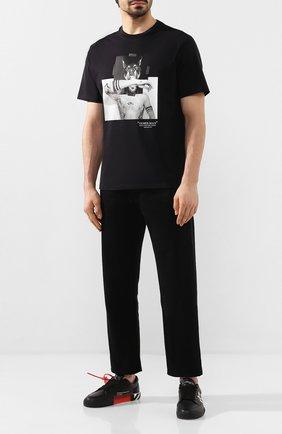 Мужская хлопковая футболка NEIL BARRETT черного цвета, арт. PBJT690A/N535S | Фото 2