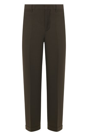 Мужской брюки NEIL BARRETT хаки цвета, арт. PBPA752/N029 | Фото 1