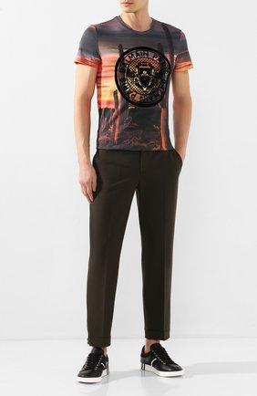 Мужской брюки NEIL BARRETT хаки цвета, арт. PBPA752/N029 | Фото 2