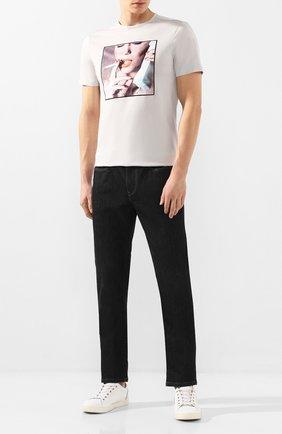 Мужская хлопковая футболка LIMITATO серого цвета, арт. ADDICT/T-SHIRT | Фото 2