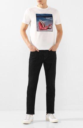 Мужская хлопковая футболка LIMITATO белого цвета, арт. INSP0/T-SHIRT | Фото 2