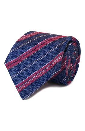 Мужской шелковый галстук KITON синего цвета, арт. UCRVKLC02G27 | Фото 1